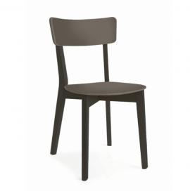 chaise en bois colorée style contemporain
