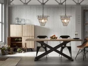 table et luminaire design style industriel chic