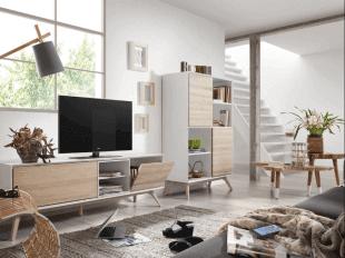mobilier d'habitat en bois ambiance scandinave