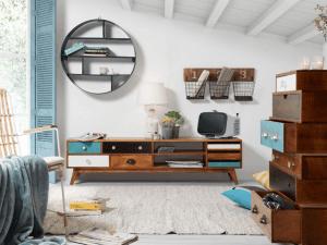 mobilier de rangement en bois style vintage