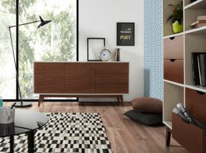 mobilier de rangement en bois style industriel chic