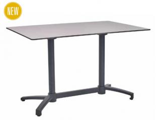 table rectangulaire classique en acier laqué blanc