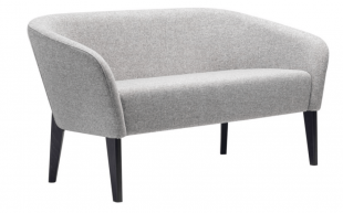 banquette moderne et cosy en tissu gris