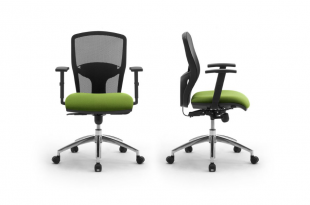 siège de bureau ergonomique en tissu coloré