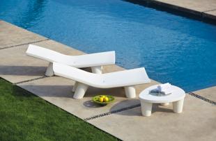 bain de soleil chaises longues design moderne blanc