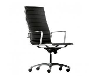 chaise de bureau classique noire avec roulettes