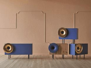 mobilier de rangement design bleu style scandinave