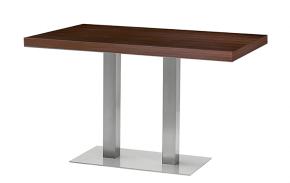 table de bar design en acier et bois