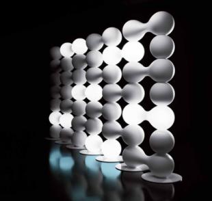 séparateur d'espace design lumineux pour entreprise