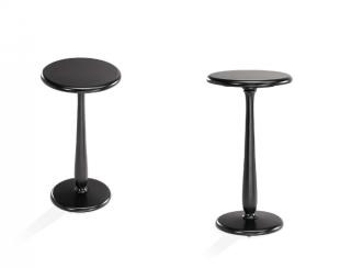 table de bar en hêtre laqué noire