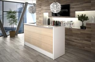 comptoir d'accueil et luminaires design pour entreprise