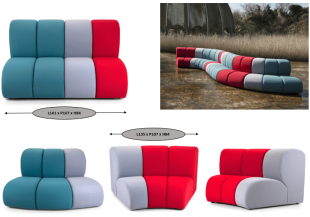 banquettes modulables colorées et design