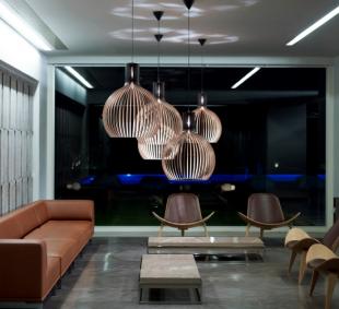 luminaire suspensions design lumière tamisée en bois massif