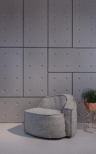 panneau acoustique design forme domino pour entrepris