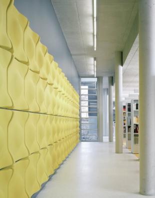 panneau acoustique design jaune pour entreprise
