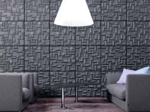panneau acoustique design noir pour entreprise