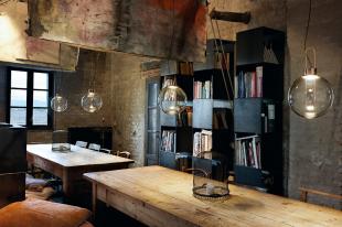 luminaire suspensions ampoule ronde style industriel vintage