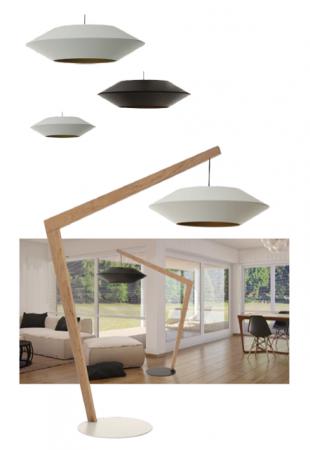 luminaire halogène design en forme d'ovni