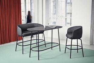 table et chaises hautes design noir
