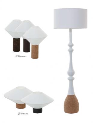 lampes de chevet design en bois et verre blanc