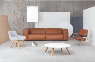 chaises canapé et tables d'inspiration scandinave