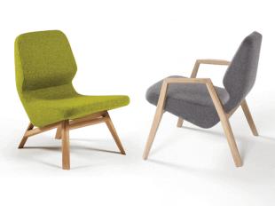 chaise basse chauffeuse colorée vert et gris