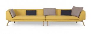 canapé droit jaune grande taille