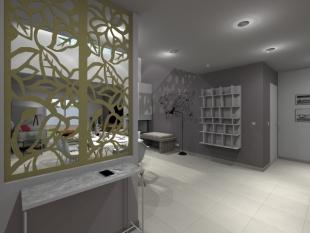 Plan 3D séparation d'espace design en fer forgé