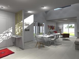 Plan 3D croquis d'aménagement et décoration design