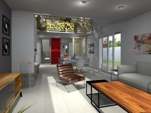 aménagement habitation privée design et coloré