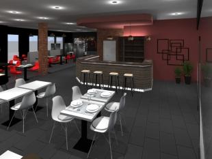 décoration et aménagement vintage tables blanches et rouges