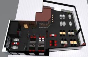 plan aménagement et décoration d'un restaurant