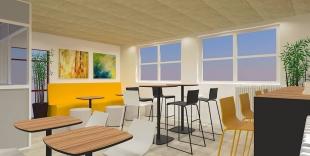plan 3D aménagement espace restauration