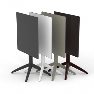 table carrée d'extérieur pliable noir gris ou blanc