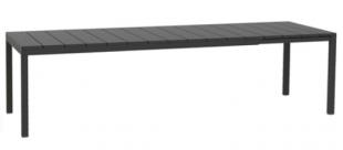 table longue d'extérieur noire