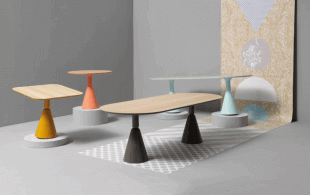 tables design aux couleurs pastel style scandinave