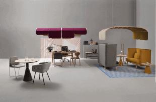 pièce d'ambiance scandinave avec mobilier coloré