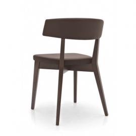 chaise en bois et tissu avec dossier rembourré