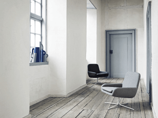 chauffeuses rembourrées design gris et noir