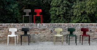 chaises design pour extérieur rouge gris beige ou noir