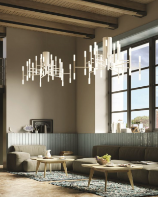 suspension chandelier design moderne blanc