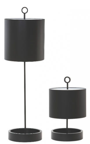 lampe de bureau design en métal noir