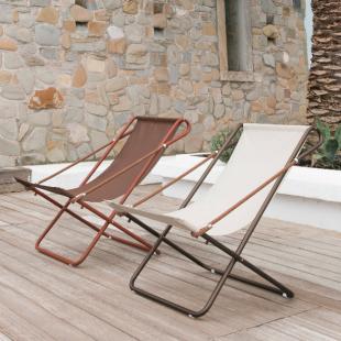 chaises longues lounge style vintage rétro