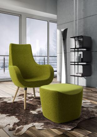 chauffeuse design tissu vert pomme