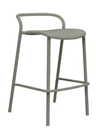 tabouret de bar en acier laqué blanc