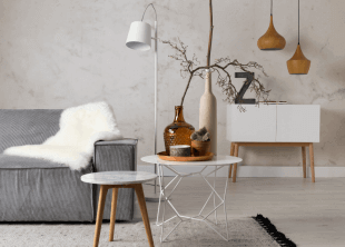 table et luminaire design d'inspiration scandinave