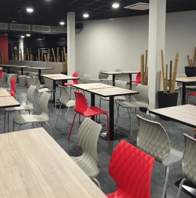 aménagement bowling tables et chaises design