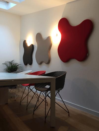 aménagement espace réunion appliques murales design