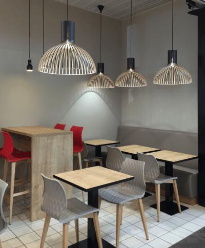 décoration de restaurant luminaires design originaux